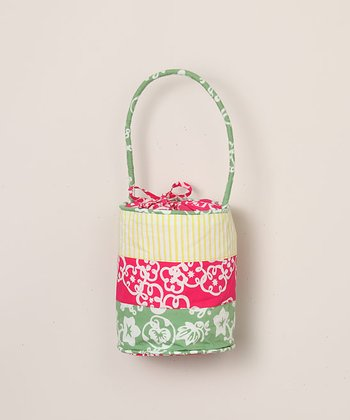 Pink Geranium Bucket Purse