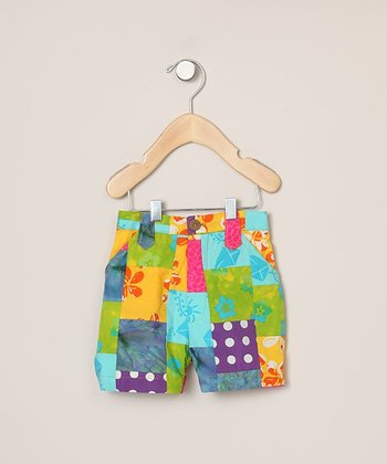 Multicolor Patchwork Bermuda Shorts - Toddler & Girls