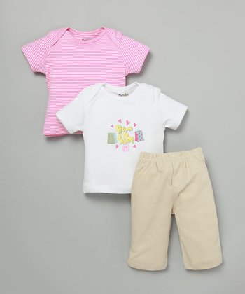 Girls' Organic Shop Tees (Set of 2) & Pants
