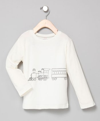 Ivory Choo Choo Long-Sleeve Tee - Infant & Toddler