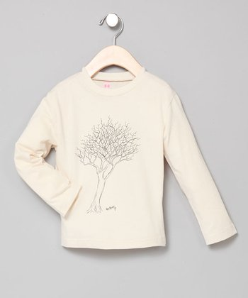 Pistachio Fall Tree Long-Sleeve Tee - Infant & Toddler
