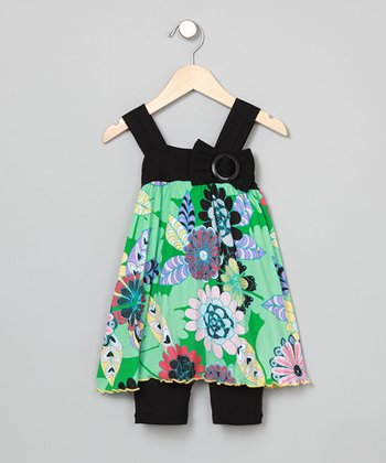 Baby Nay Delight Apron Dress & Leggings - Toddler & Girls