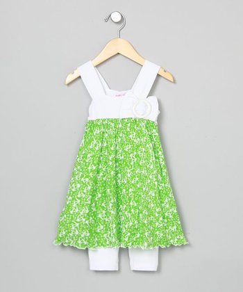 Baby Nay Envy Apron Dress & Leggings - Toddler & Girls