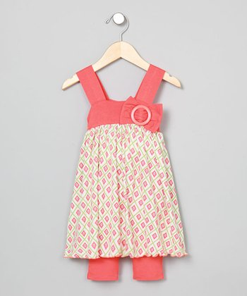 Baby Nay Pucci Diamond Apron Dress & Leggings - Toddler & Girls