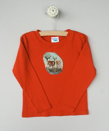 Marmalade Long-Sleeve Tee with Deer - Toddler & Boys