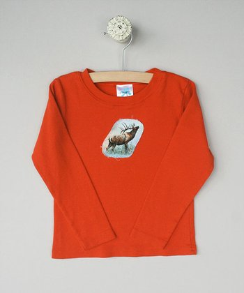 Marmalade Long-Sleeve Tee with Elk- Toddler & Boys