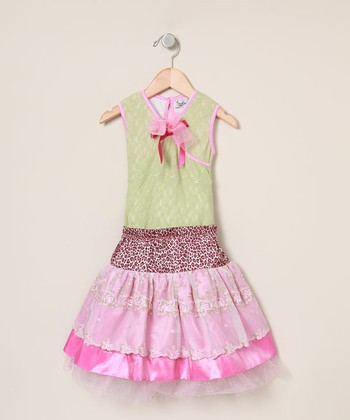 Nesting Baby - Pink Party Skirt & Top - Girls