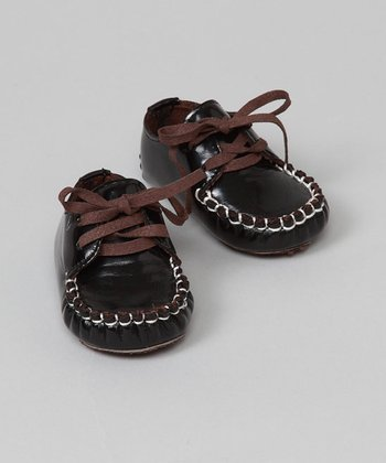 Brown Patent Moccasins - Infant