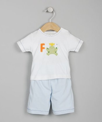 Toad White & Blue Tee & Shorts - Infant