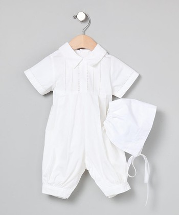 White Boys' Christening Bubble - Infant