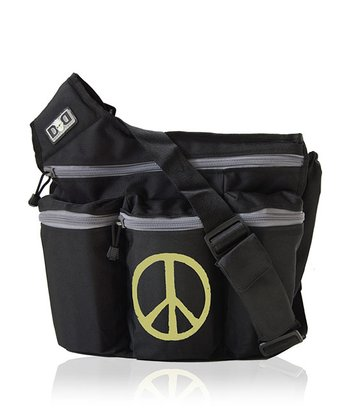 Black Peace Diaper Bag