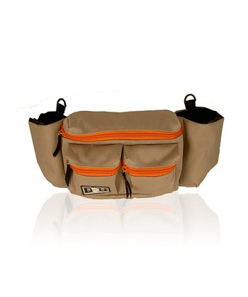 Khaki & Orange Mini Dude Diaper Bag