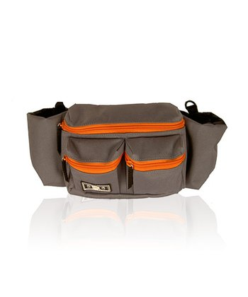 Gray & Orange Mini Dude Diaper Bag