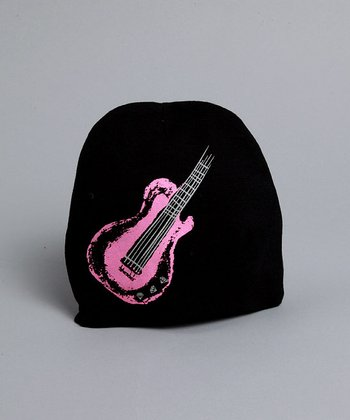 Black Hat with Pink Guitar