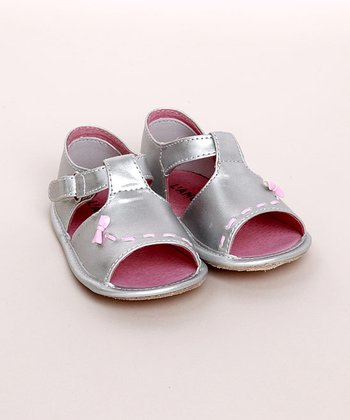L'Amour Shoes - Silver Infant Sandal