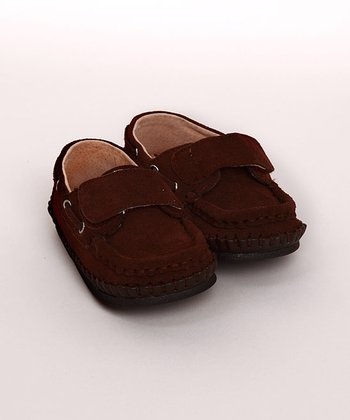 Brown Velcro Loafer