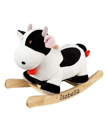 Personalized Cow Rocker