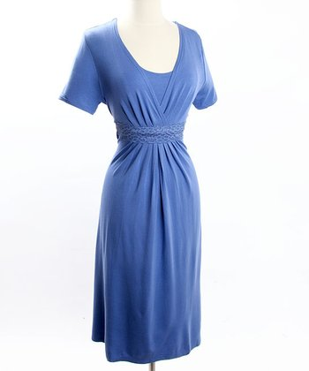 Blue Celebrations Nursing Dress