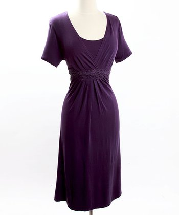 Purple Celebrations Nursing Dress
