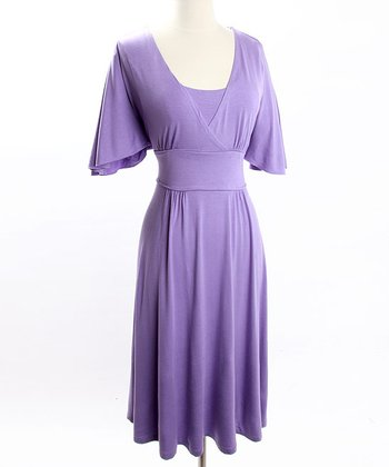Lavender Romantic Nursing Dress