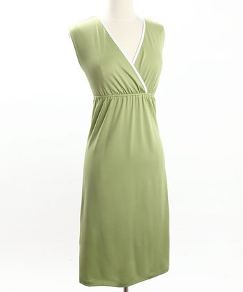 Green Sleek Maternity/Nursing Nightgown