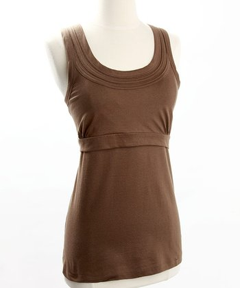 Brown Organic Nursing Tank