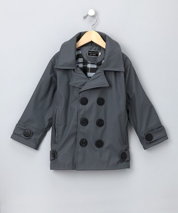 Charcoal Stanford Raincoat - Toddler & Kids