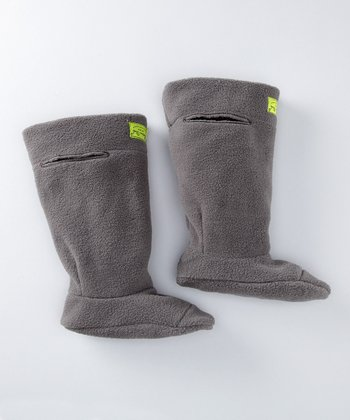 Charcoal Fleece Boot Liners