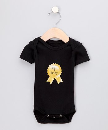 Silly Souls Black '#1 Baby' Bodysuit