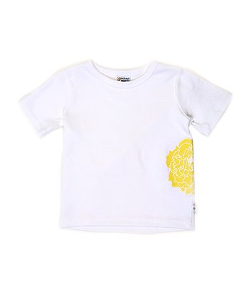White & Yellow Peony Andy Tee - Infant, Toddler & Girls