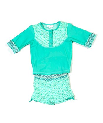Spring Greens Rashguard Set - Infant, Toddler & Girls