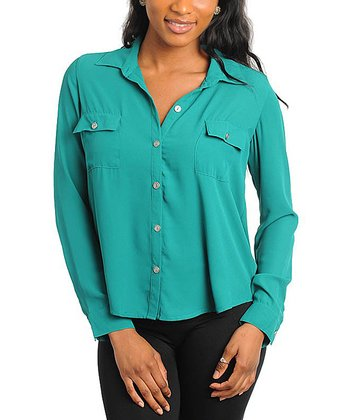 Turquoise Pocket Top