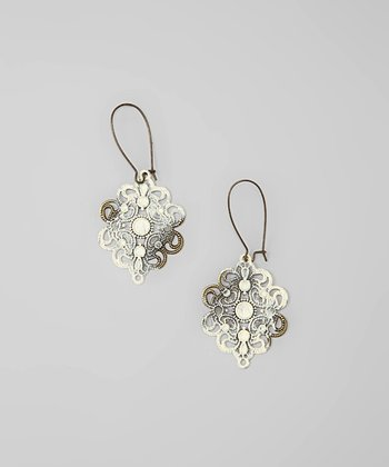 Cream Bohemian Love Drop Earrings