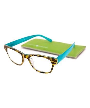 Turquoise Tortoise Reading Glasses
