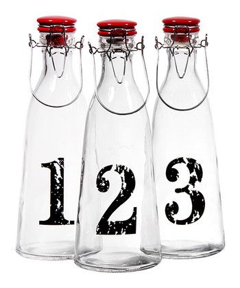 Numbered Bottle Set