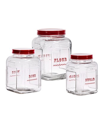 Square Glass Canister Set