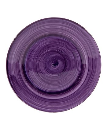 Purple Brush Stroke 7.5'' Salad Plate - Set of Four