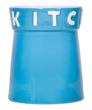 Aqua 'Kitchen' 7.5'' Utensil Crock