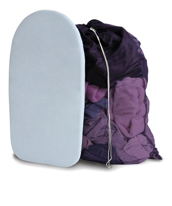 Gray & Eggplant Mesh Bag & Countertop Ironing Board