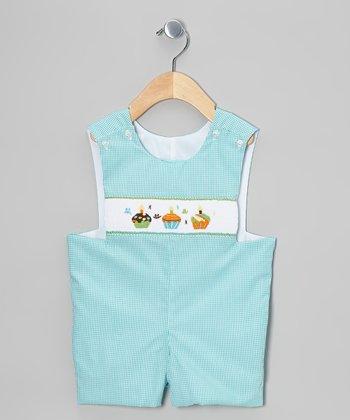 Teal Cupcake John Johns - Infant