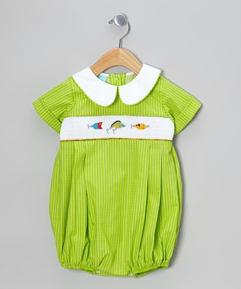 Green Fishing Lure Bubble Bodysuit - Infant