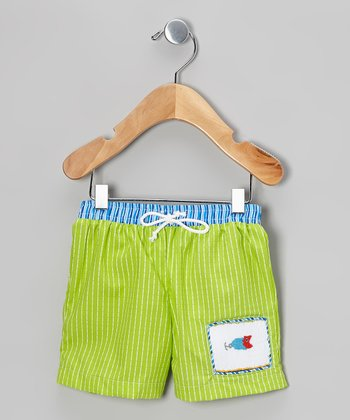 Lime Fish Shorts - Infant & Toddler