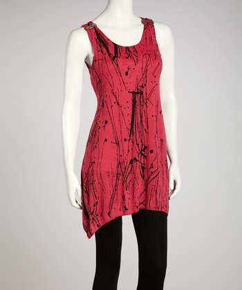 Fuchsia Abstract Tunic