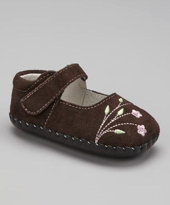 Chocolate Brown Caroline Soft-Sole Mary Jane