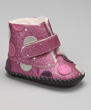 Pink Glitter Giselle Soft-Sole Ankle Boot