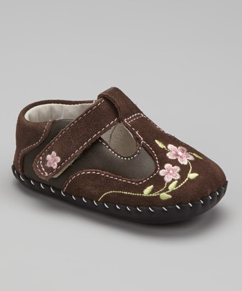 Chocolate Brown McKenna Soft-Sole T-Strap Shoe
