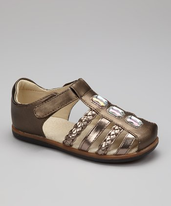 Bronze Vivian Closed-Toe Sandal