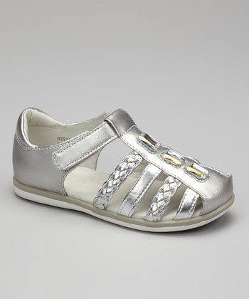 Silver Vivian Closed-Toe Sandal