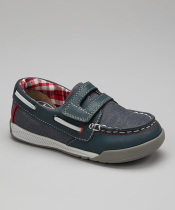 Navy Naples Boat Shoe