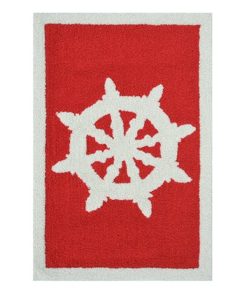 Red & White Helm Rug